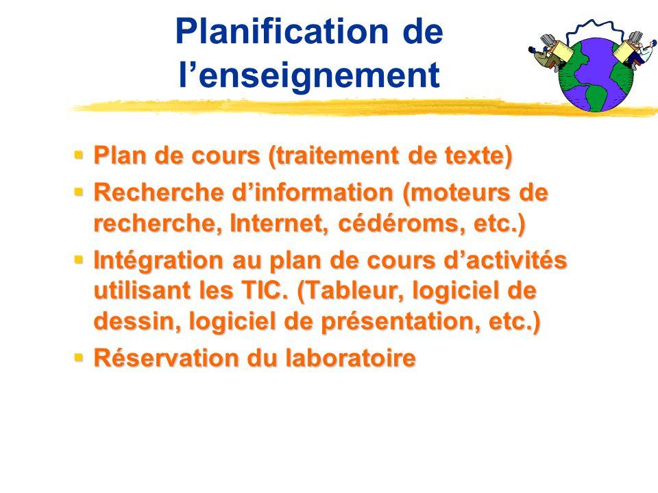 Planification de l'enseignement