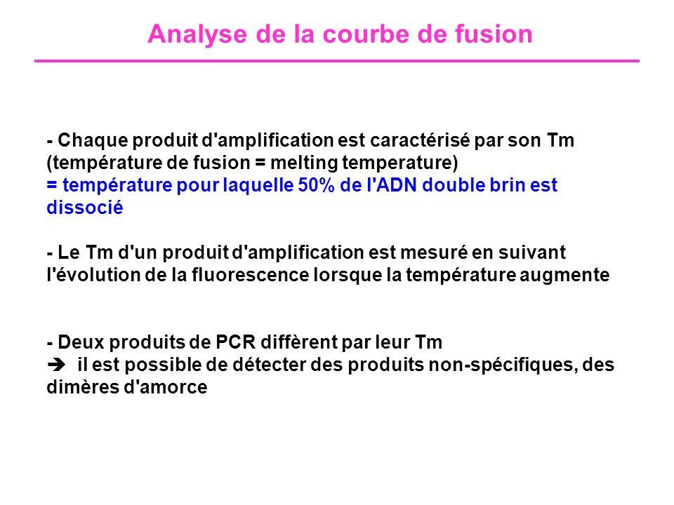 Analyse de la courbe de fusion