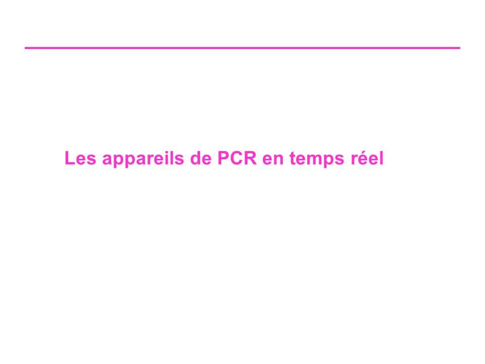 Les appareils de PCR en temps réel