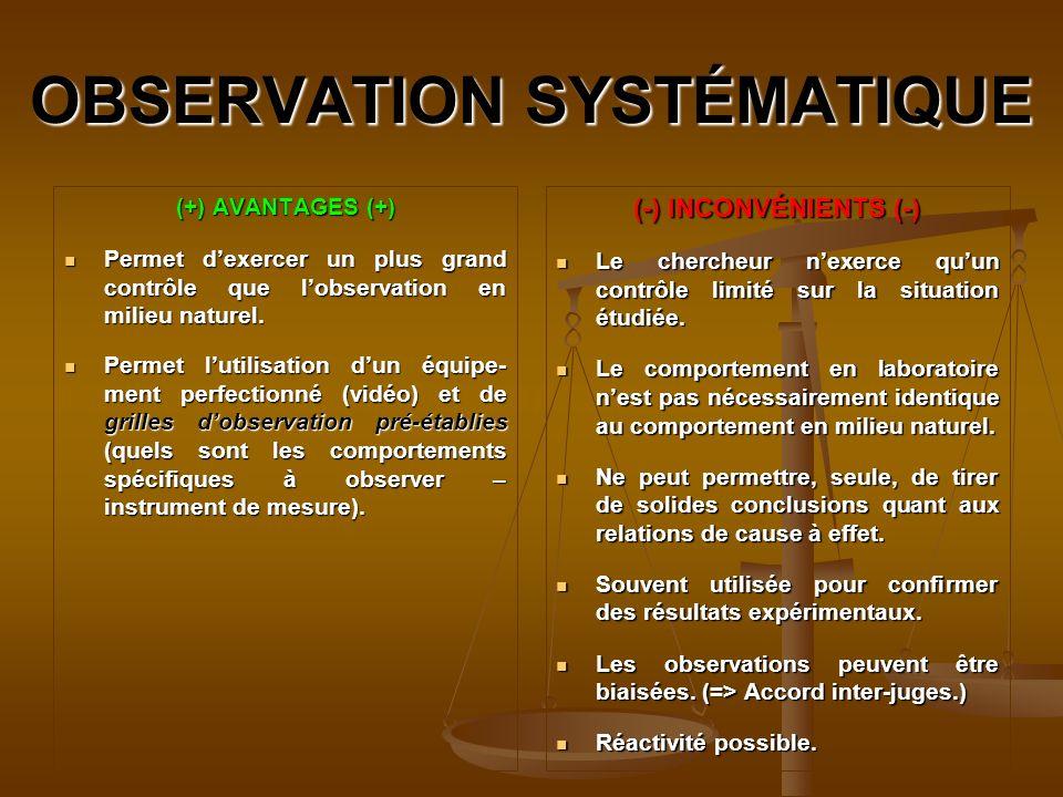 OBSERVATION SYSTÉMATIQUE