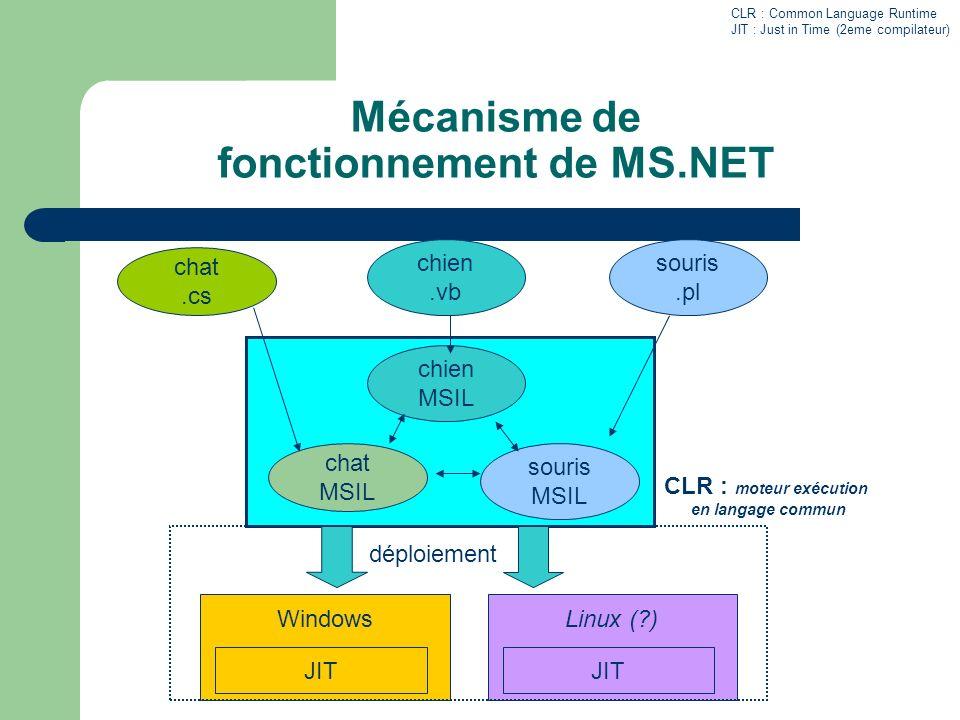 Mécanisme de fonctionnement de MS.NET