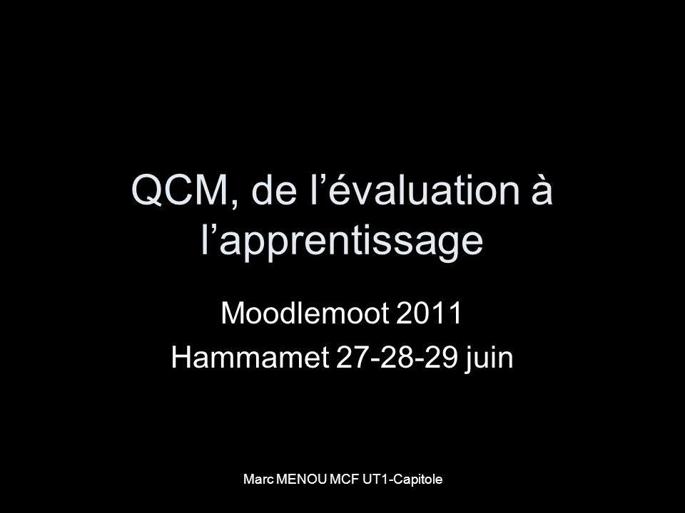 QCM, de l'évaluation à l'apprentissage