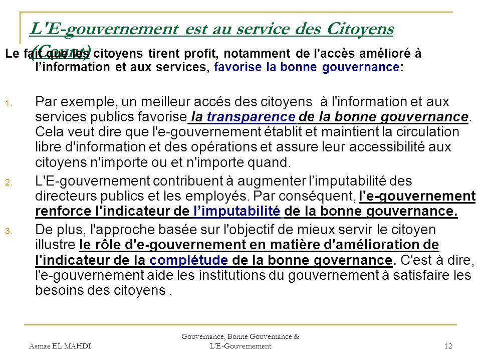 L E-gouvernement est au service des Citoyens (Count)