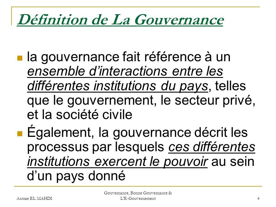 Définition de La Gouvernance