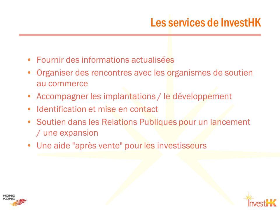 Les services de InvestHK