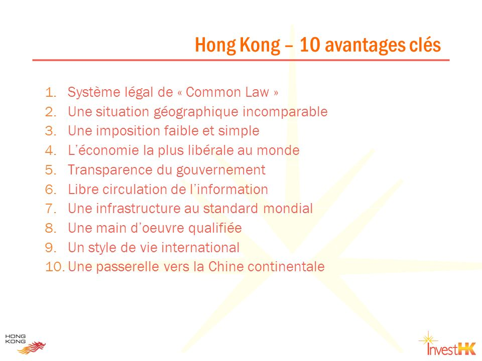Hong Kong – 10 avantages clés