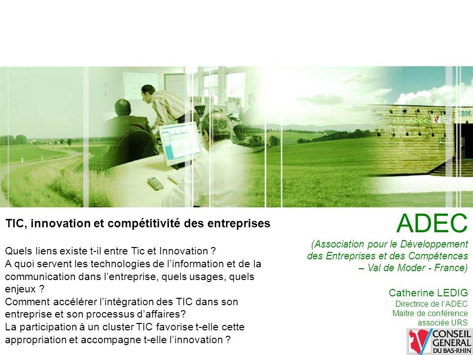 ADEC TIC, innovation et compétitivité des entreprises