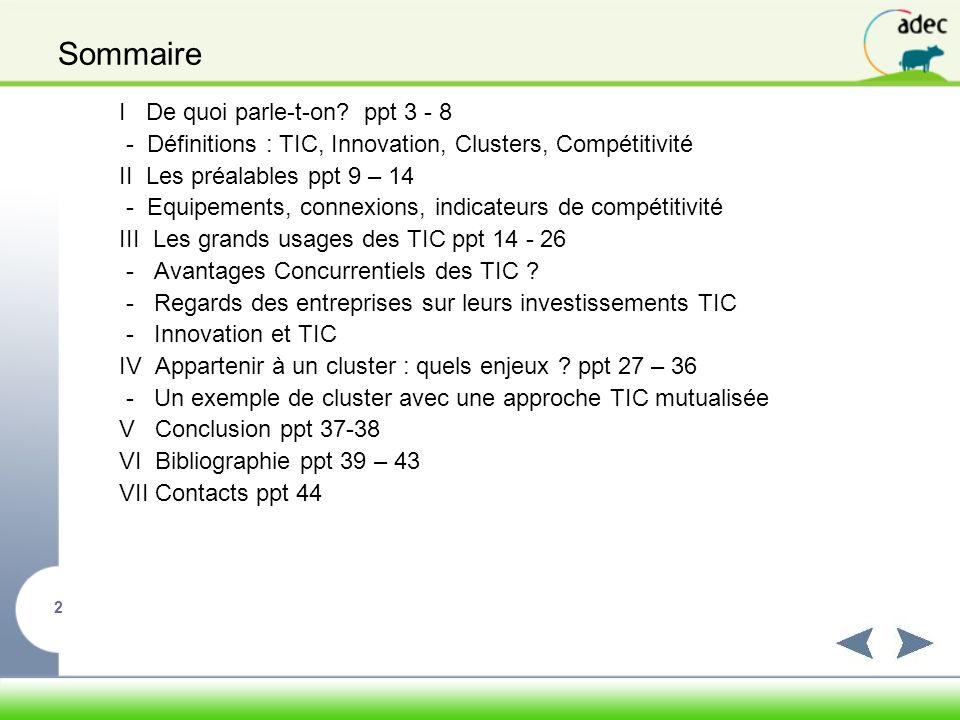 Sommaire I De quoi parle-t-on ppt 3 - 8