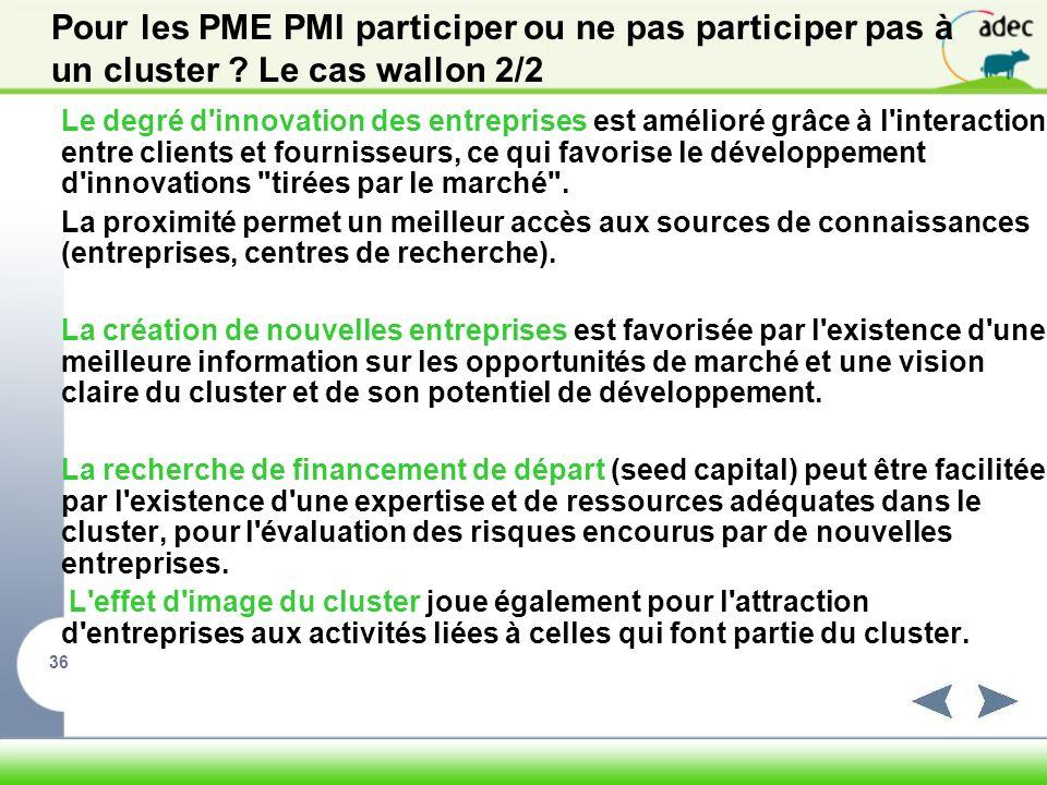 Pour les PME PMI participer ou ne pas participer pas à un cluster