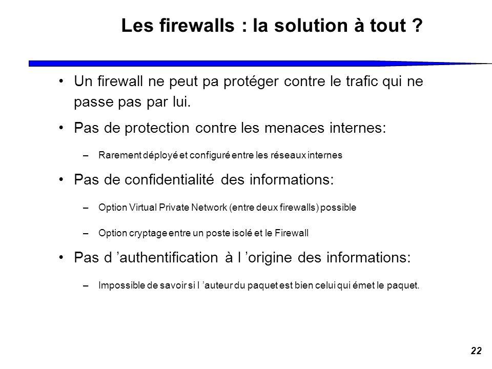 Les firewalls : la solution à tout
