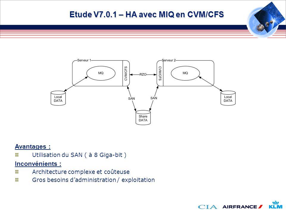 Etude V7.0.1 – HA avec MIQ en CVM/CFS