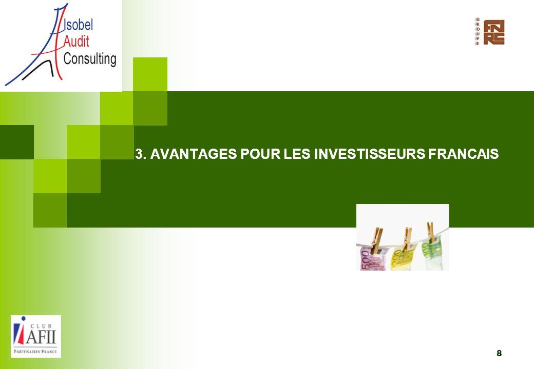 3. AVANTAGES POUR LES INVESTISSEURS FRANCAIS