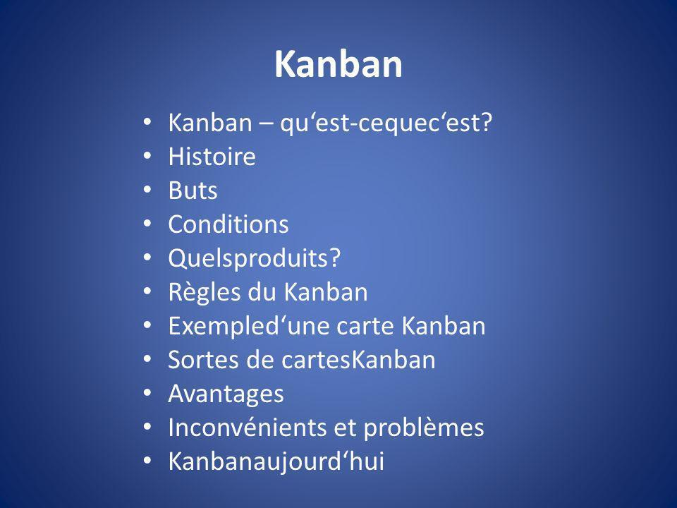 Kanban Kanban – qu'est-cequec'est Histoire Buts Conditions