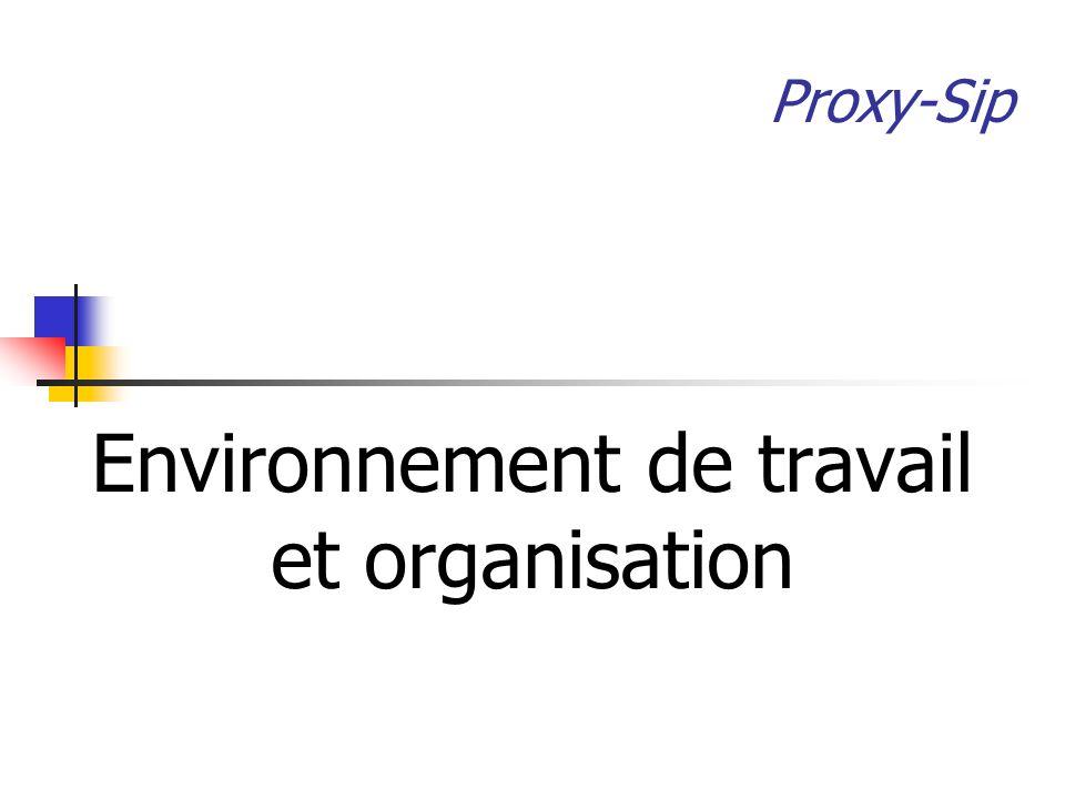 Environnement de travail et organisation