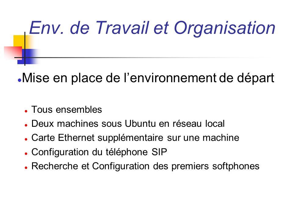 Env. de Travail et Organisation