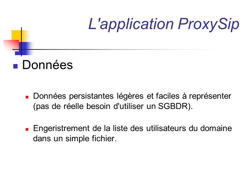L application ProxySip