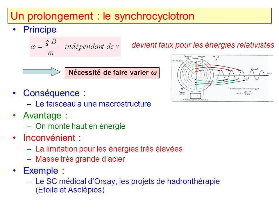 Un prolongement : le synchrocyclotron