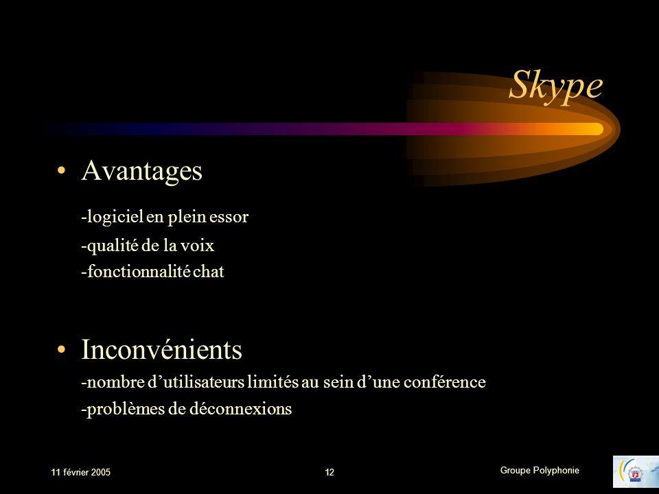 Skype Avantages -logiciel en plein essor Inconvénients