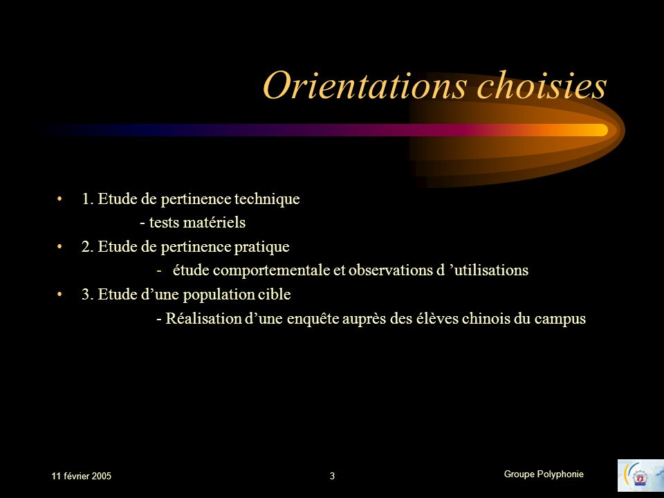 Orientations choisies