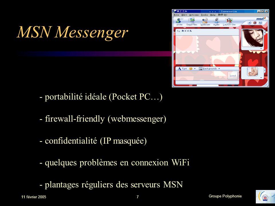 MSN Messenger - portabilité idéale (Pocket PC…)