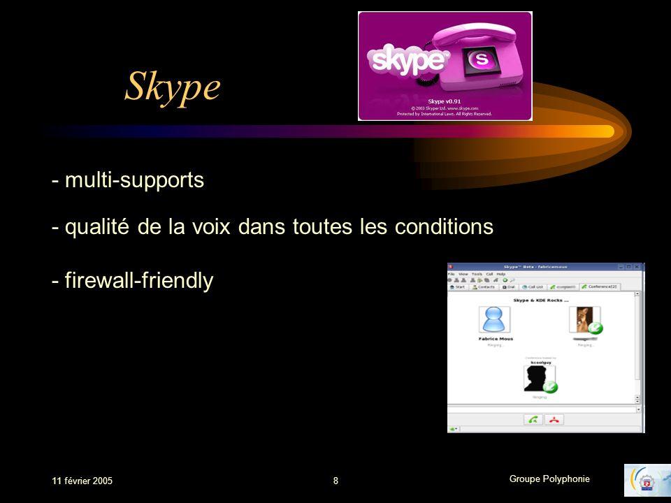 Skype - multi-supports - qualité de la voix dans toutes les conditions