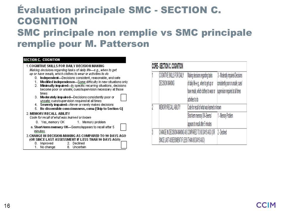 Évaluation principale SMC - SECTION C