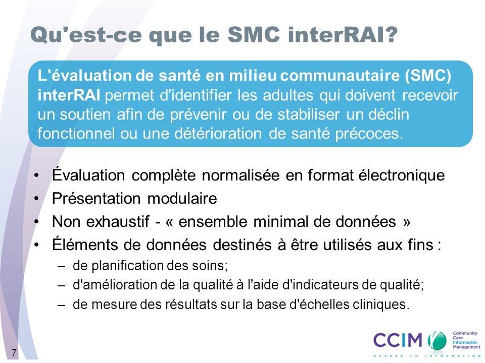 Qu est-ce que le SMC interRAI