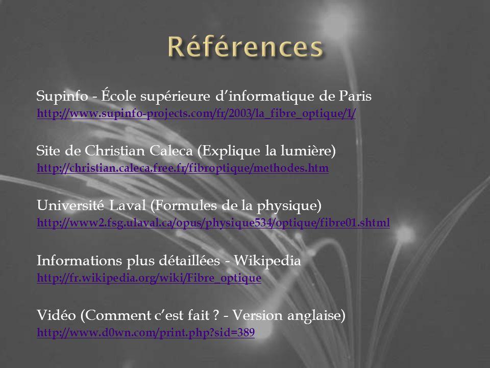 Références Supinfo - École supérieure d'informatique de Paris