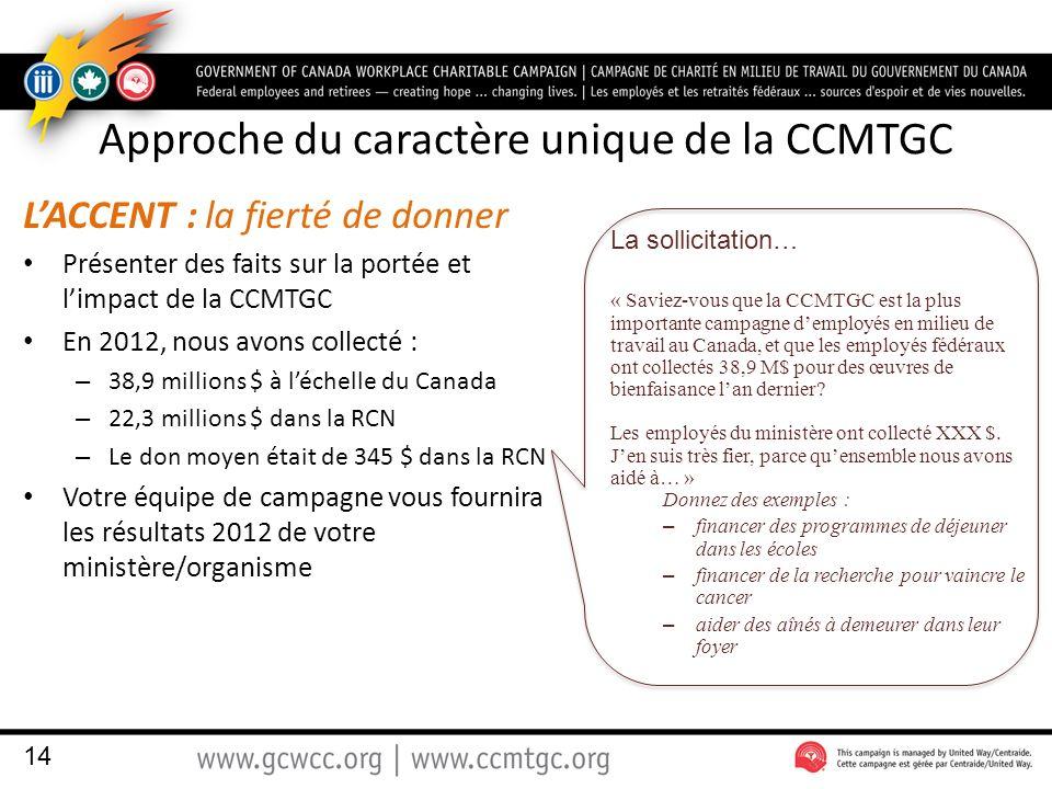 Approche du caractère unique de la CCMTGC