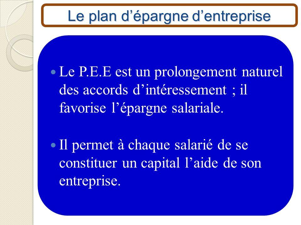 Le plan d'épargne d'entreprise