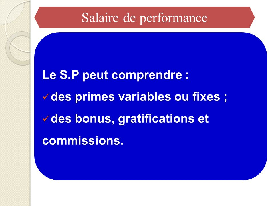 Salaire de performance