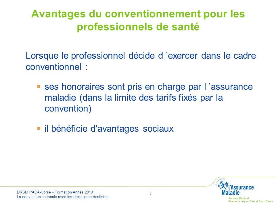 Avantages du conventionnement pour les professionnels de santé