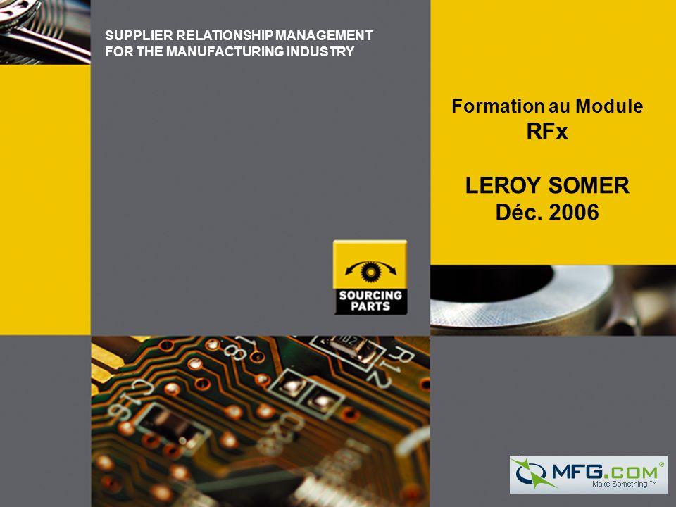 RFx LEROY SOMER Déc. 2006 Formation au Module 31/03/2017