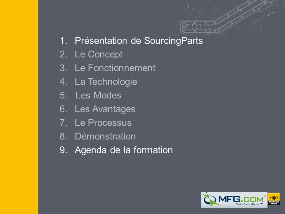 1. Présentation de SourcingParts 2. Le Concept 3. Le Fonctionnement 4