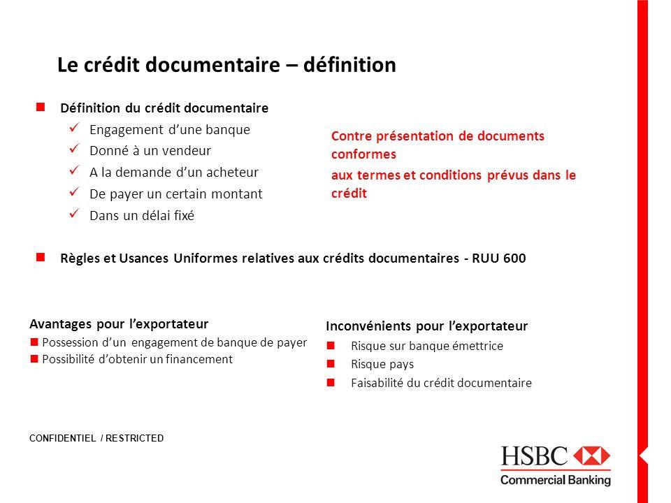 Le crédit documentaire – définition