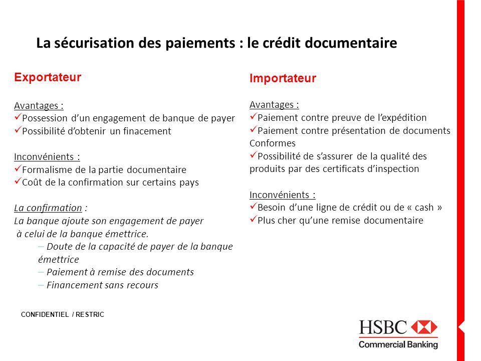 La sécurisation des paiements : le crédit documentaire