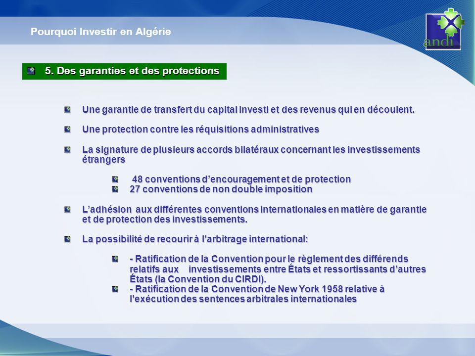 Pourquoi Investir en Algérie