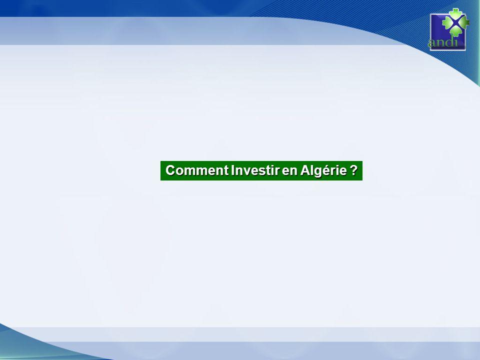 Comment Investir en Algérie