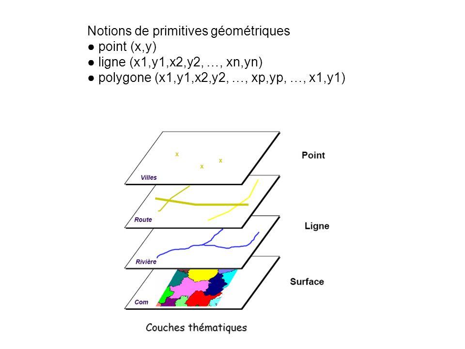 Notions de primitives géométriques