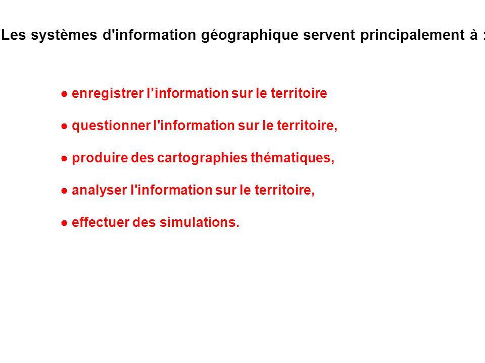 Les systèmes d information géographique servent principalement à :