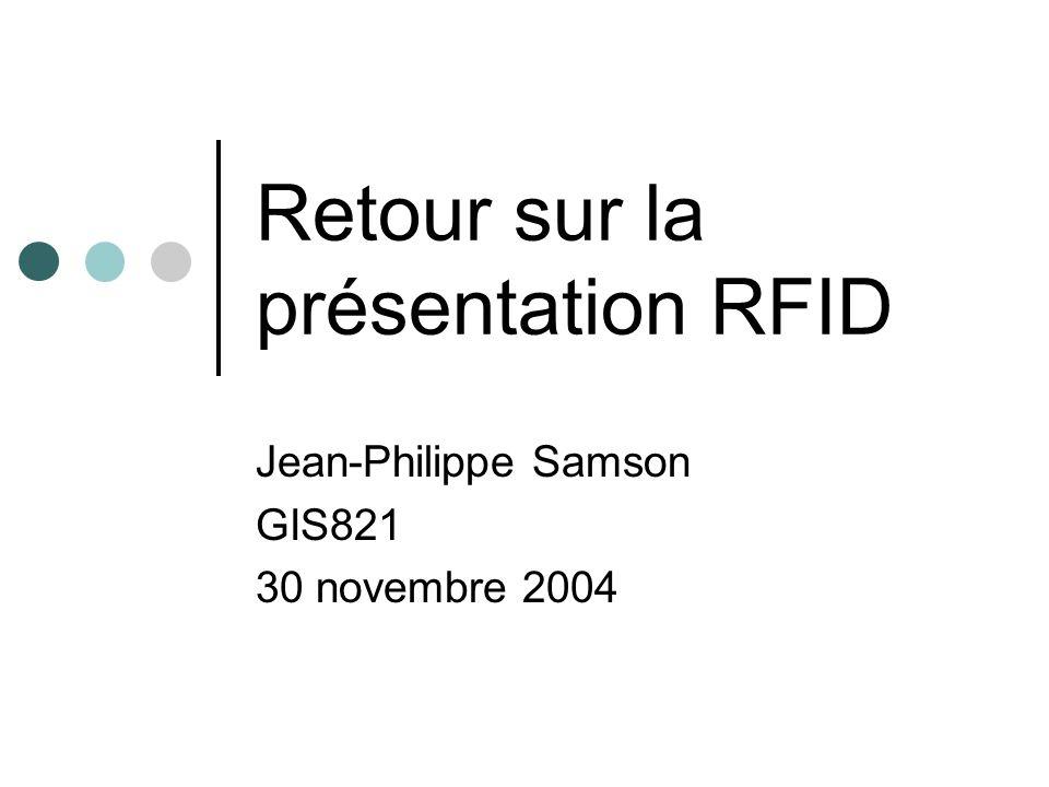 Retour sur la présentation RFID