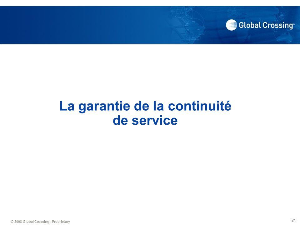 La garantie de la continuité de service