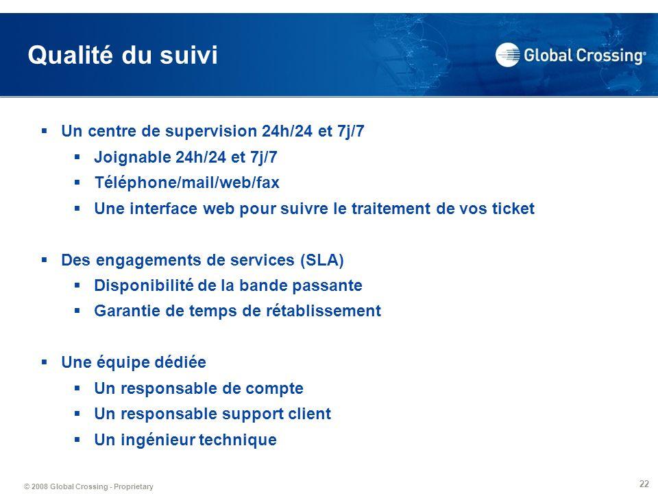 Qualité du suivi Un centre de supervision 24h/24 et 7j/7