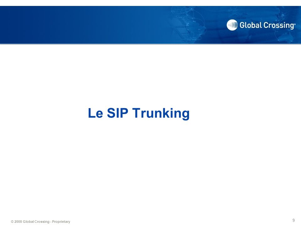 Le SIP Trunking