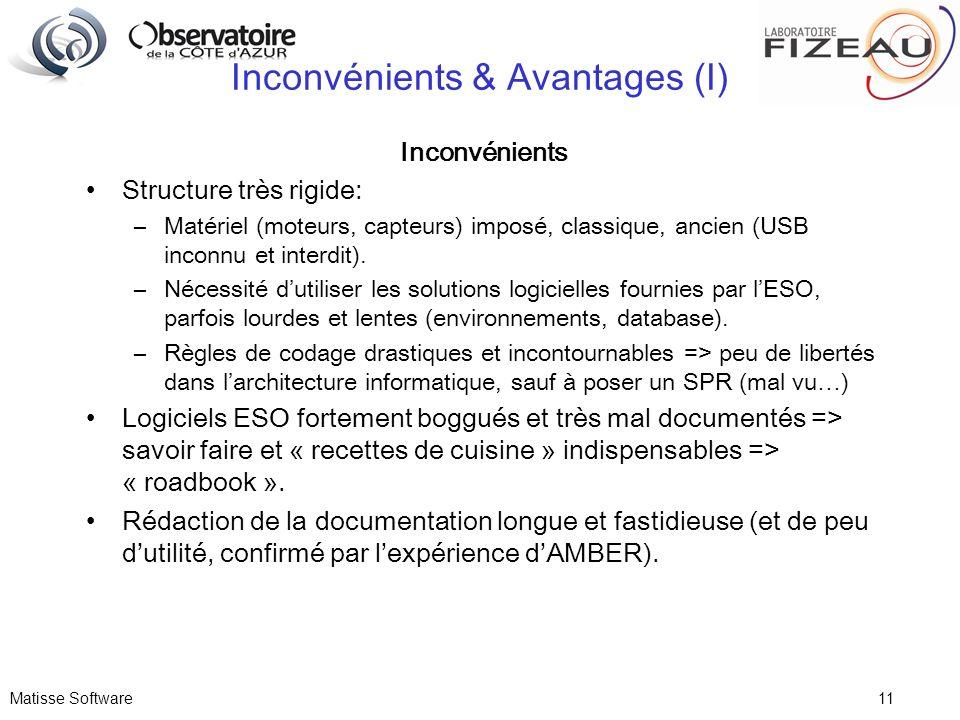 Inconvénients & Avantages (I)