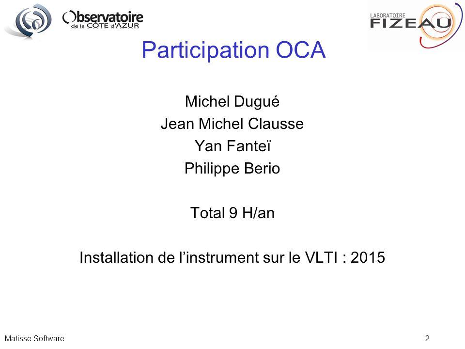 Installation de l'instrument sur le VLTI : 2015