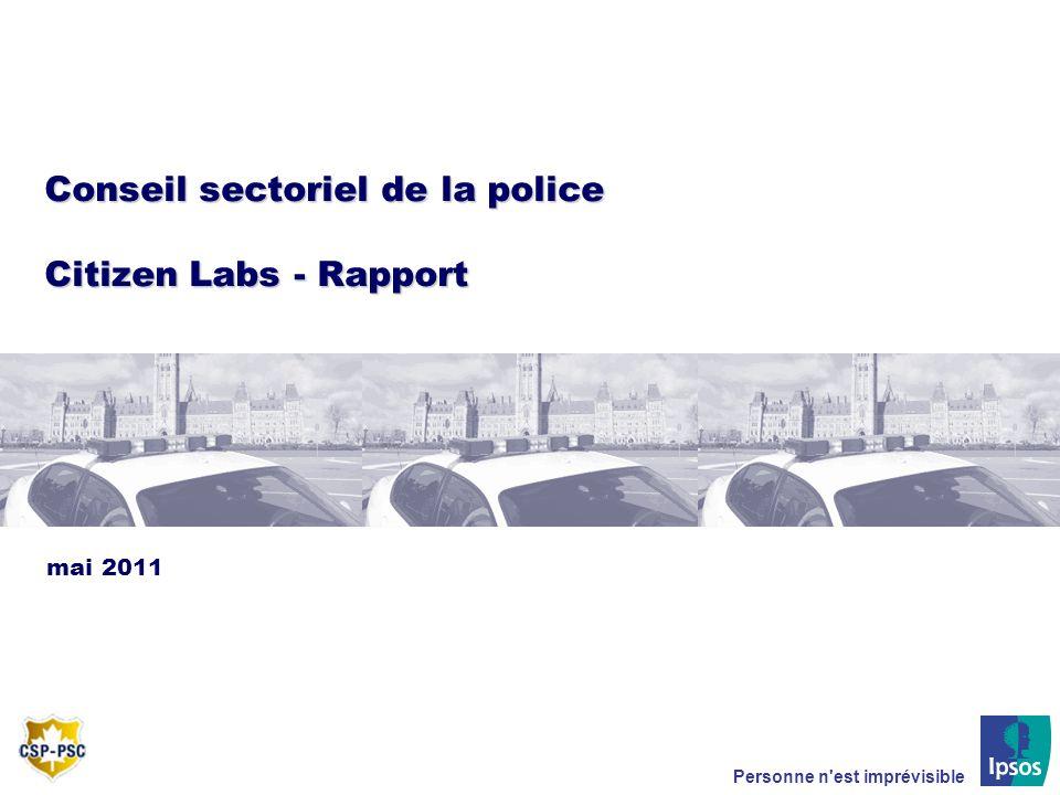 Conseil sectoriel de la police Citizen Labs - Rapport