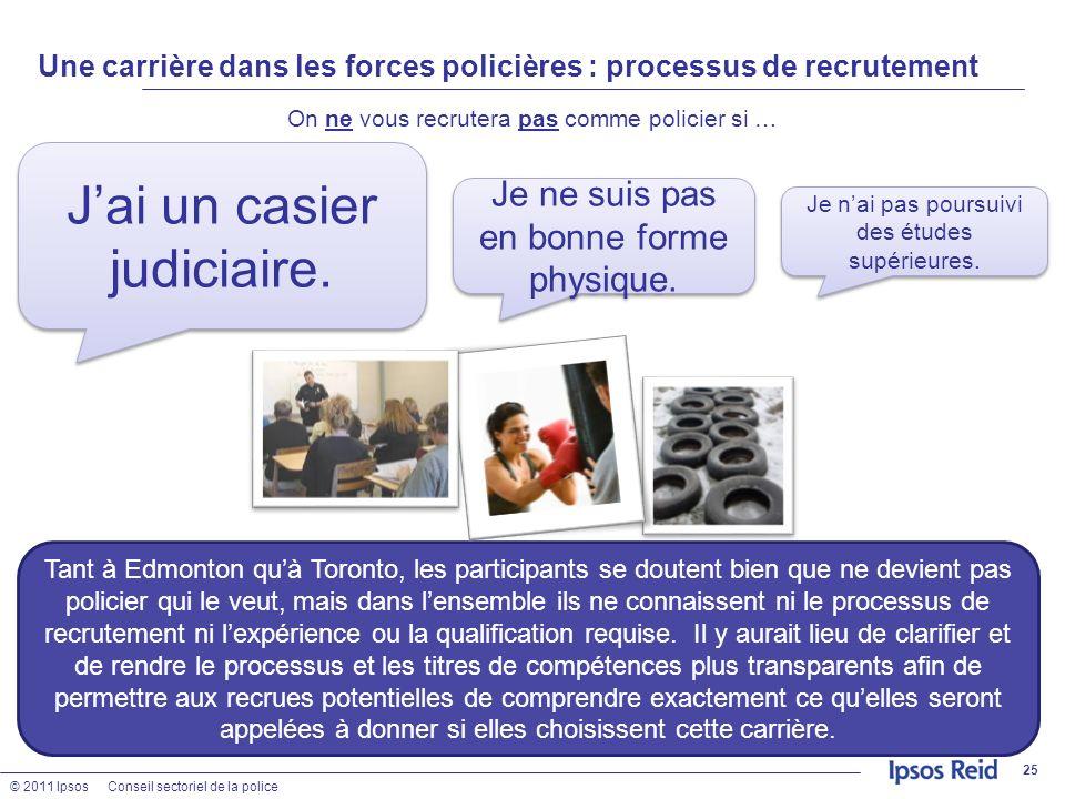 Une carrière dans les forces policières : processus de recrutement