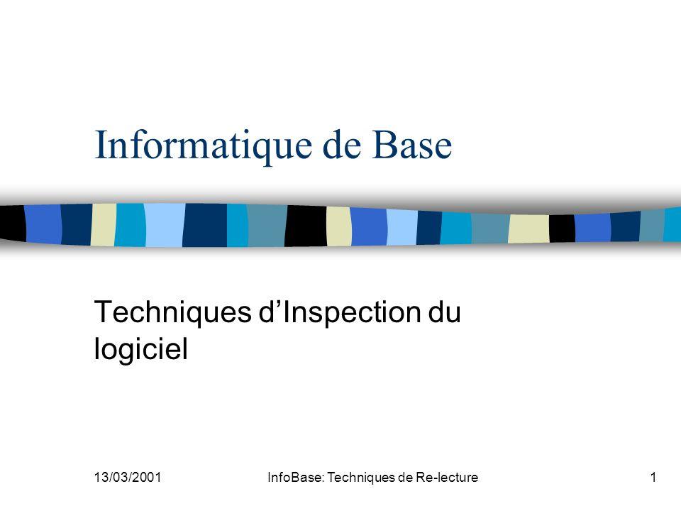 Techniques d'Inspection du logiciel