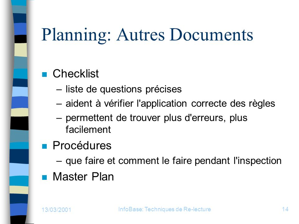 Planning: Autres Documents